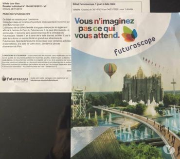 Photos Vivastreet vente de 2 billets adultes futuroscope