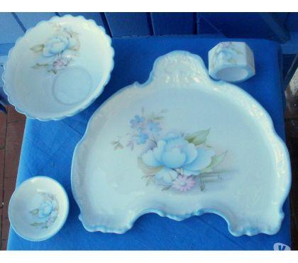 Photos Vivastreet Ensemble porcelaine Limoges MILLAS, assiette, bol,
