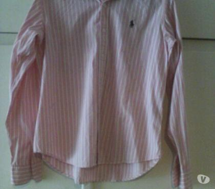 Photos Vivastreet Chemise homme rayée rose/blanc Ralph Lauren sport