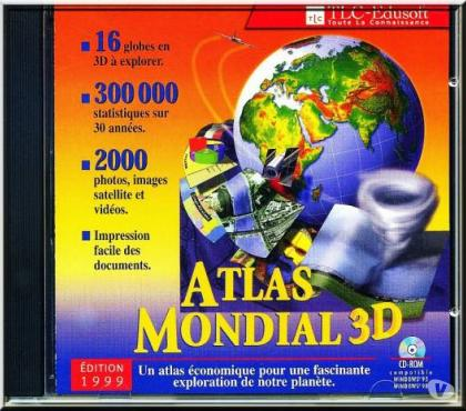 Photos Vivastreet Encyclopédie Atlas mondial 3D (CD-ROM) SÉRIE 1999