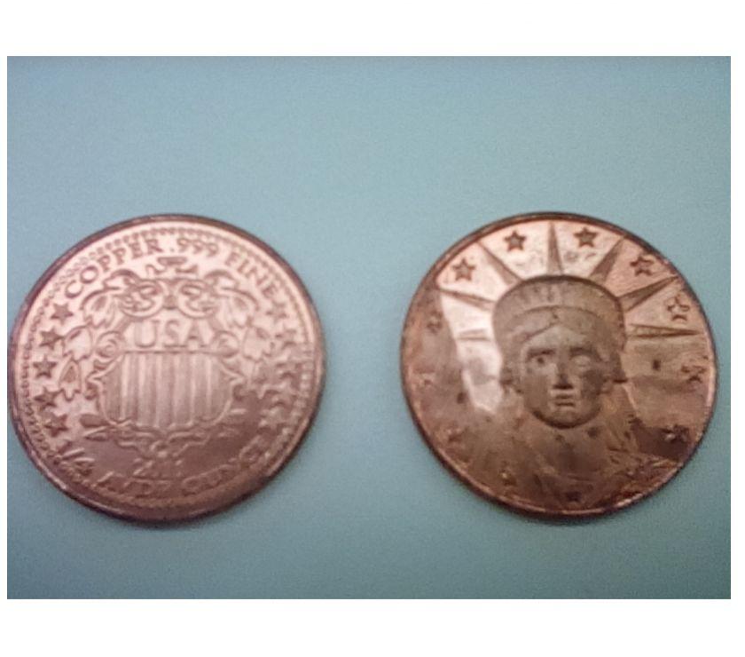 Photos Vivastreet OFFRE Bullion de Cuivre de 1 4 oz (un quart oz) USA.