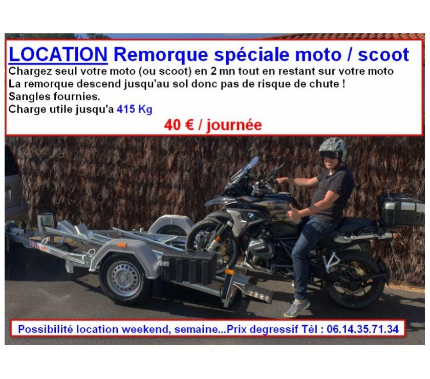 Pièces et services moto Pyrénées-Atlantiques Bayonne - 64100 - Photos Vivastreet Location remorque porte moto