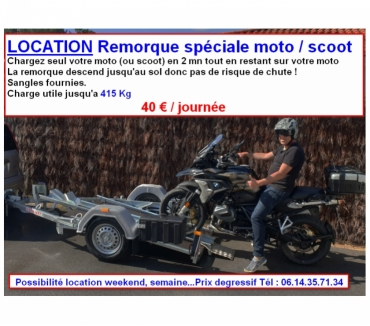 Photos Vivastreet Location remorque porte moto