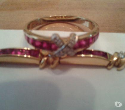 Photos Vivastreet Bracelet et bague or, rubis, diamants