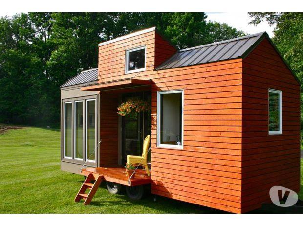 mobilhome petite maison bois tiny house sur remorque la roche sur yon 85000 mobil home. Black Bedroom Furniture Sets. Home Design Ideas