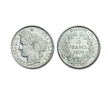 Photos Vivastreet RARE MONNAIES 5 F CERES 1870 0A C 750€