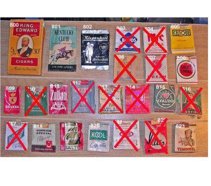 Photos Vivastreet Paquets pliés, vides de cigarettes des années 1950's (4)