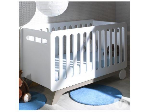 Equipements bébés Nord Tourcoing - 59200 - Photos Vivastreet Lit bébé évolutif 70x140 blanc/lin Victoire
