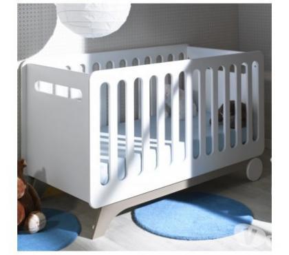 Photos Vivastreet Lit bébé évolutif 70x140 blanc/lin Victoire