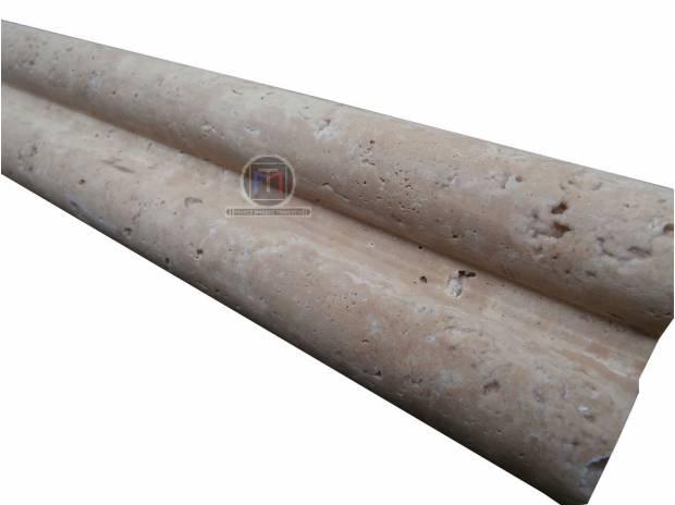 travertin beige corniche double pencil en stock lancon provence 13680 mat riel pas cher d. Black Bedroom Furniture Sets. Home Design Ideas