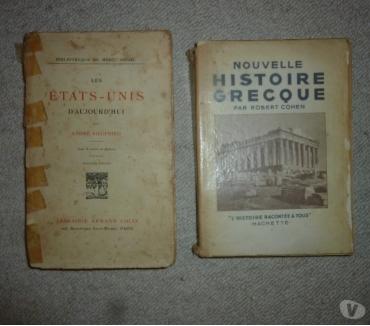 Photos Vivastreet 2 livres d'histoire - Grèce et Etats-Unis