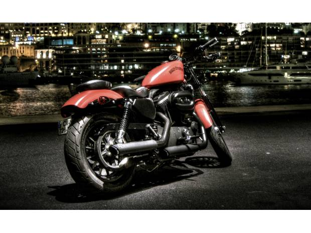 photos vivastreet moto harley davidson sportster 883 rouge mat. Black Bedroom Furniture Sets. Home Design Ideas