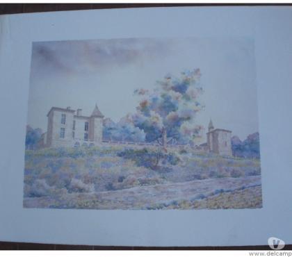Photos Vivastreet LE SENTIER DES FLEURS Lithographie aquarelle de S. CAVALLE
