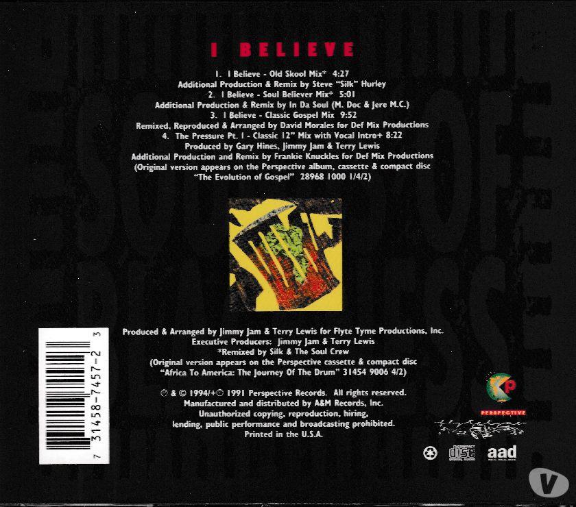Photos Vivastreet CD Sounds Of Blackness - I Believe (Import U.S.)