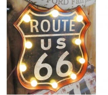 Photos Vivastreet Enseigne bouclier lumineux route 66