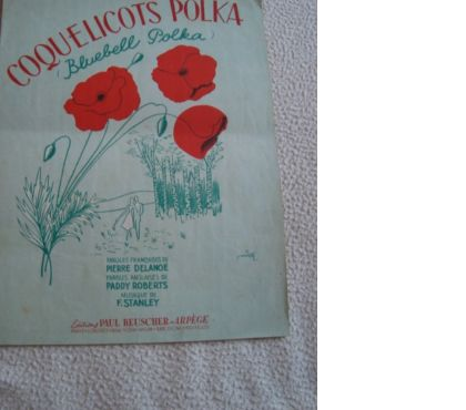 Photos Vivastreet COQUELICOTS POLKA-Partition Musicale Ancienne