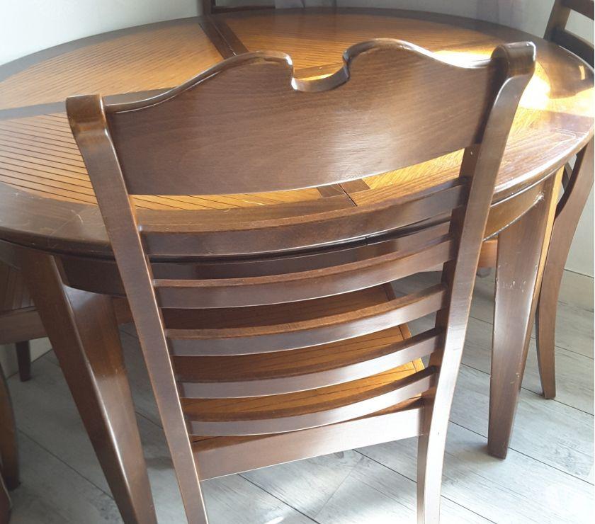 Photos Vivastreet Table ronde pin massif et bambou et 4 chaises
