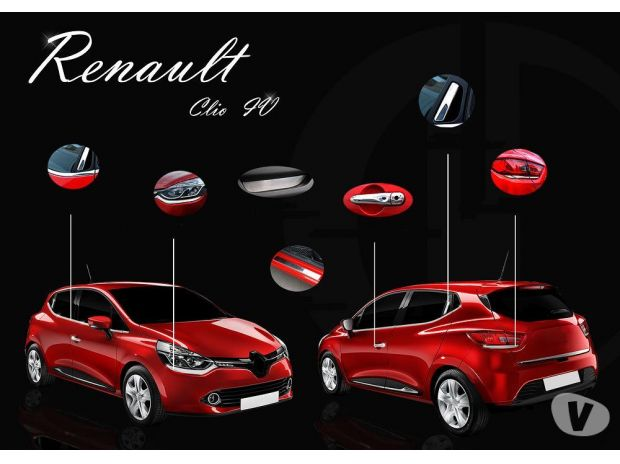 pi ces accessoires auto accessoires chrome pour renault clio 4. Black Bedroom Furniture Sets. Home Design Ideas