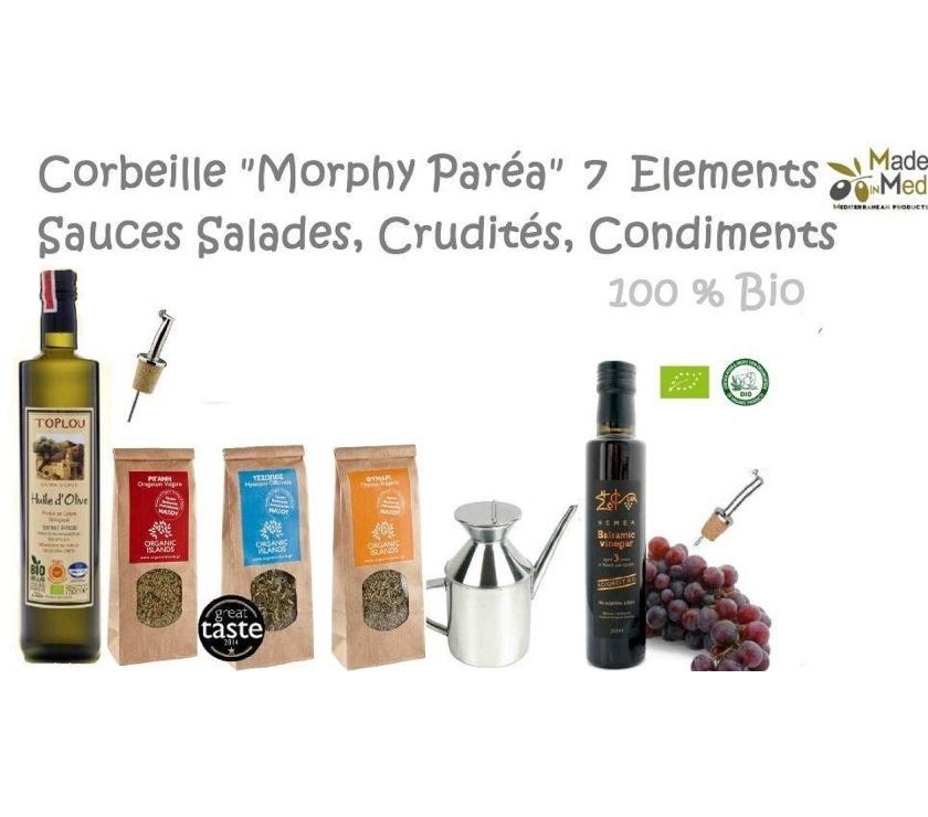 """Vins - Gastronomie Gironde Bordeaux - Photos Vivastreet Corbeille Héllénique """"Morphy Paréa"""" 7 Elèments - 100% Bio"""