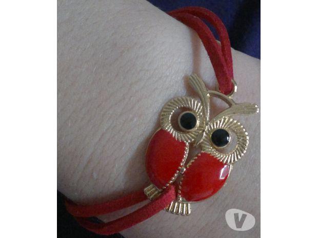 Photos Vivastreet Bracelet similicuir hibou rouge