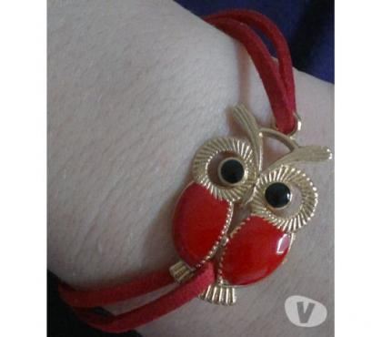 Photos Vivastreet Bracelet similicuir hibou rouge