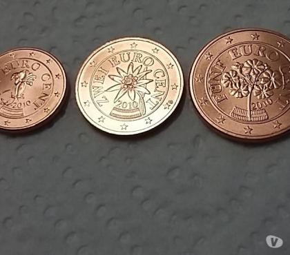 Photos Vivastreet 1, 2 et 5 centimes Autriche 2010 Neuve Euro