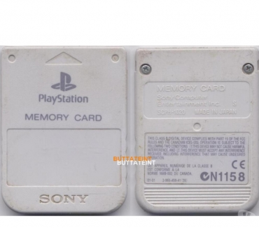 Photos Vivastreet PS123 - CARTES MEMOIRE OFFICIELLE PS1 SONY GRISE BLANCHE
