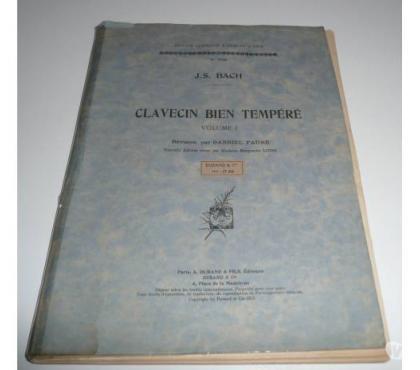 Photos Vivastreet Partitions CLAVECIN BIEN TEMPERE J.S. BACH