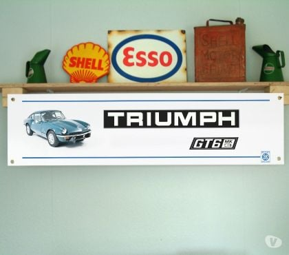 Photos Vivastreet Banderole TRIUMPH GT6 - Idéal décoration garage