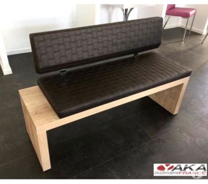 Photos Vivastreet Banquette design et contemporaine bois simili cuir-Bordeaux