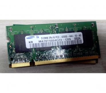 Photos Vivastreet Barrette RAM SAMSUNG 512MB 2Rx16 PC2-4200S-444-12-A3 M470T65