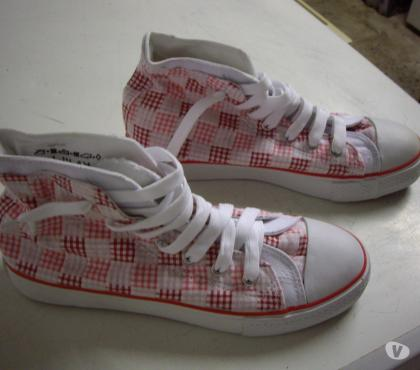 Photos Vivastreet Basket hautes Rose Vichy pt 40-neuves- à 6 €