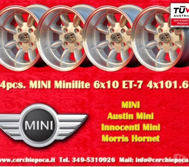 Photos Vivastreet 4pcs. Jantes MINI Minilite 6x10 4x101.6 ET-7