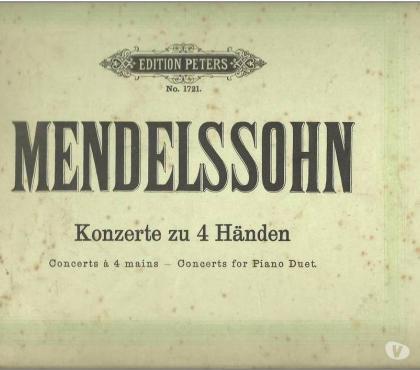 Photos Vivastreet MENDELSSOHN Concerts 4 mains Edition PETERS N°1721