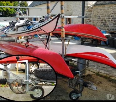 Photos Vivastreet Remorque pour 8 kayaks IROISE freinée (bon état)