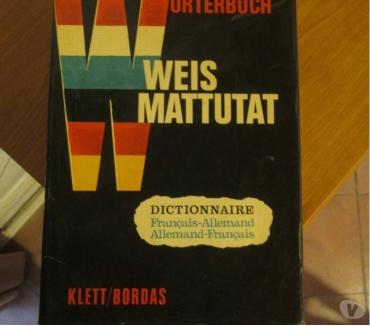 Photos Vivastreet Dictionnaire franco-allemand Weis-Mattutat