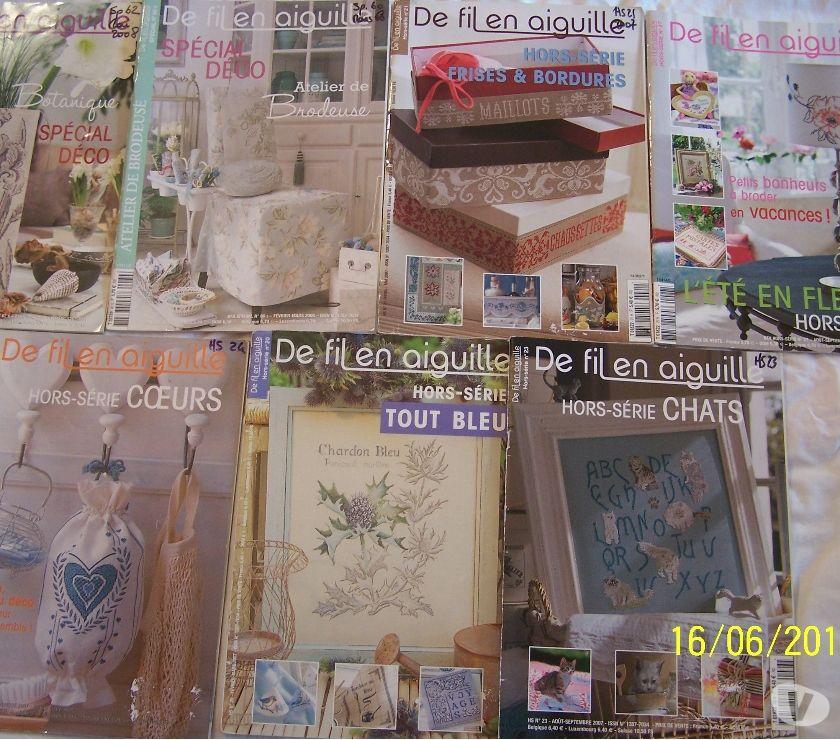 Photos Vivastreet 12 MAGASINES DE FIL EN AIGUILLE (BRODERIE)