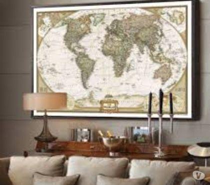 Photos Vivastreet Affiche parchemin 73 X 48 : Mappe monde