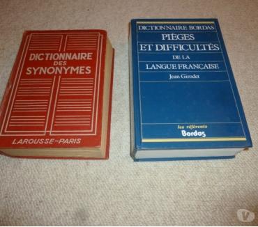 Photos Vivastreet Dictionnaires des synonymes et des pièges et difficultés