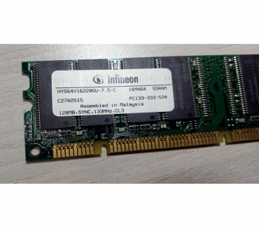 Photos Vivastreet SDRAM 128MB 133MHz CL3 PC133-333-520 HYS64V16220GU-7.5-C