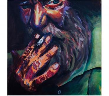 Photos Vivastreet Tableau Acrylique déco Portrait vieil homme à la cigarette