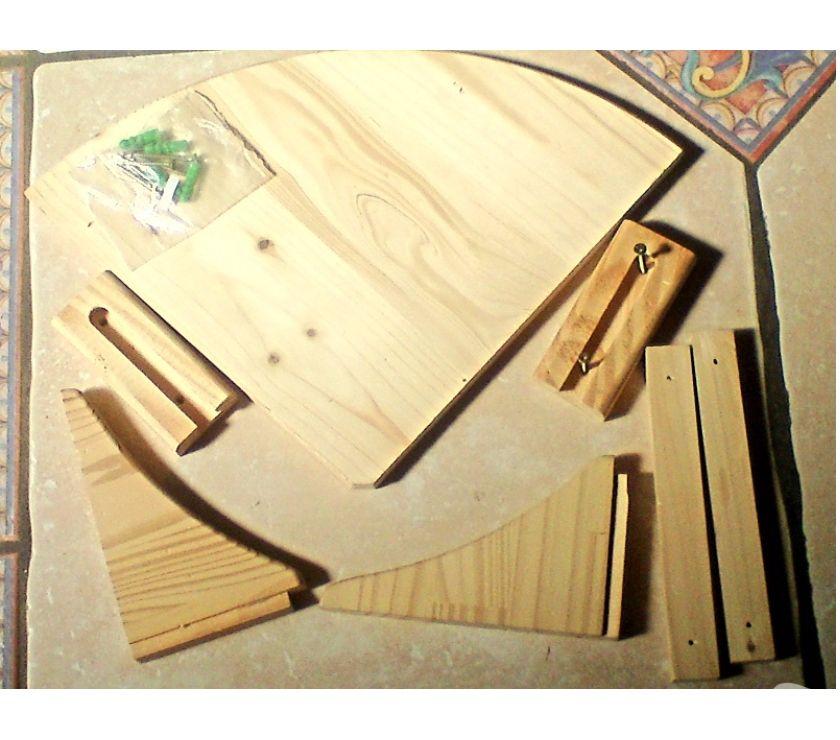 Ameublement & art de la table Var Bormes les Mimosas - 83230 - Photos Vivastreet ETAGERE d'ANGLE _ NEUVE _ en KIT avec fixations