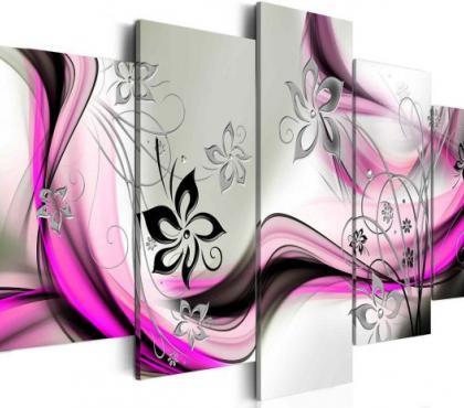 Photos Vivastreet tableau 5en1 petites fleurs arabesque 100x50cm