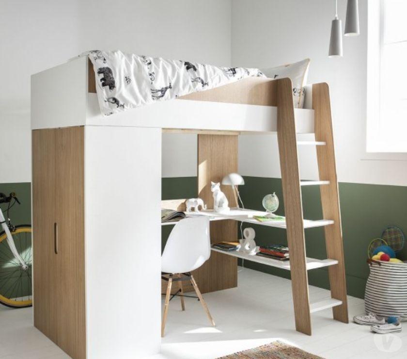 Ameublement & art de la table Nord Villeneuve d'Ascq - Photos Vivastreet Lit mezzanine à bureau et armoire 90x190