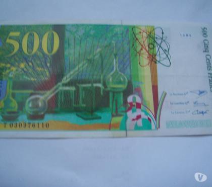Photos Vivastreet BILLET DE 500 FRS + 1 DE 200 FRS 1996