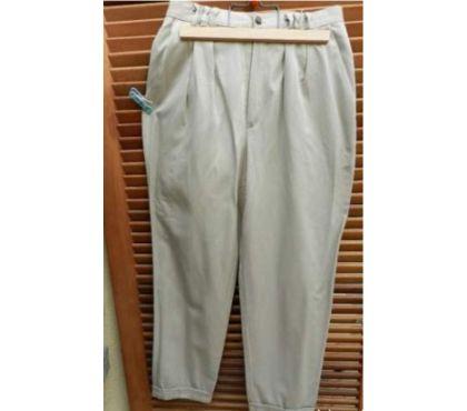 Photos Vivastreet Pantalon à revers beige viscose. 76% Viscose. 24% Polyester.