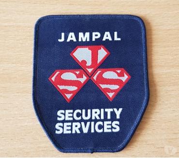 Photos Vivastreet ecusson en tissu Jampal security services 9,5x8 cm à coudre
