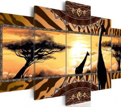 Photos Vivastreet Tableau 5en1 savane girafe afrique 100x50 cm