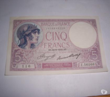 Photos Vivastreet 2 BILLET DE 5 FRS DE 1933 NEUF