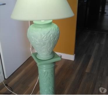 Photos Vivastreet Lampe sur colonne faïence verte en deux parties